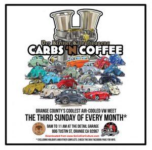 Carbs & Coffee Air Cooled VW Meet