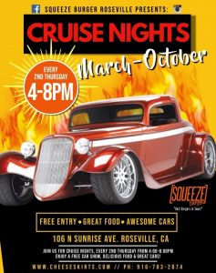 Cruise Night at Squeeze Burgers